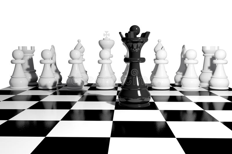 Chess Game Board Royalty Free Stock Photos