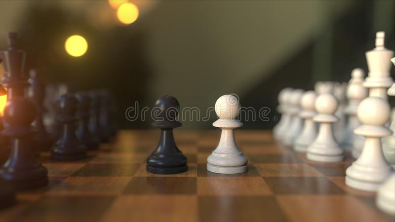Realistic 3d Chess Black Queen Seamless Pattern Background
