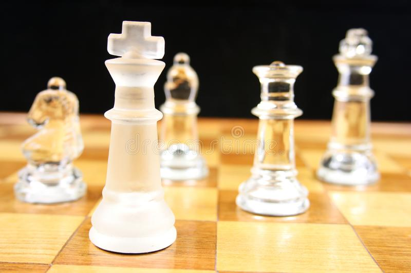 Chess Game - Focus on the King royalty free stock image