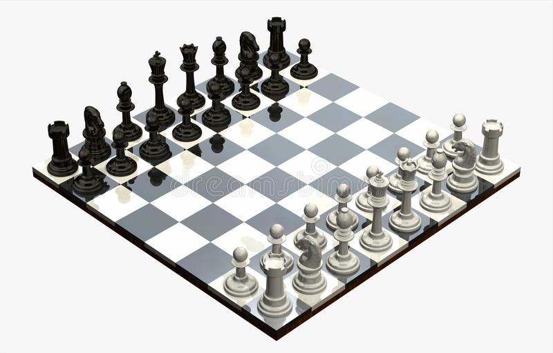 Download Chess Game - isolated stock illustration. Image of competition - 12434673