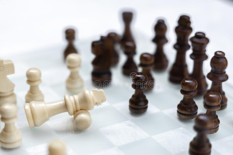 Chess game. A move to kill. Refer to business strategy and competitive concept. Achievement adrenaline ahead ambition brave challenge champion chance royalty free stock photo