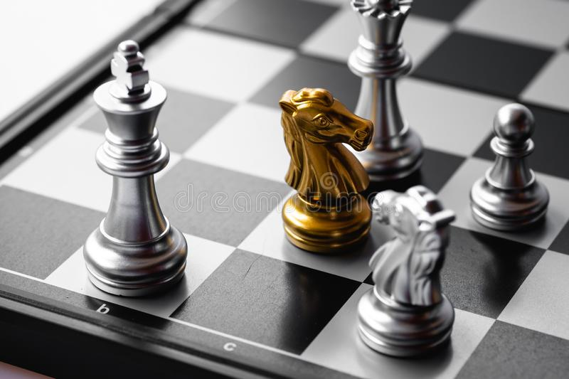 Chess game. A move to kill. Refer to business strategy and competitive concept. Achievement, adrenaline, ahead, ambition, brave, challenge, champion, chance royalty free stock images