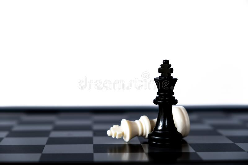 Chess game. A move to kill. Refer to business strategy and competitive concept. Achievement, adrenaline, ahead, ambition, brave, challenge, champion, chance stock photos