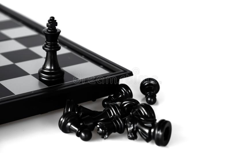 Chess game. A move to kill. Refer to business strategy and competitive concept. Achievement, adrenaline, ahead, ambition, brave, challenge, champion, chance stock images