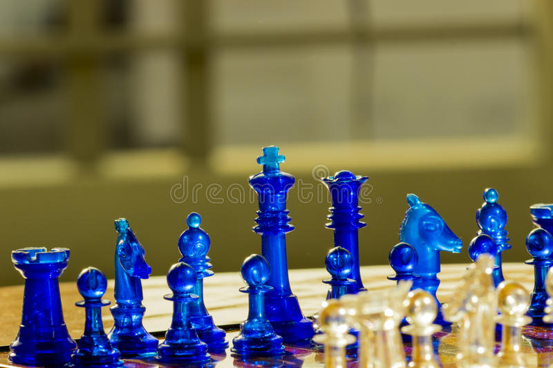 Chess - game. Picture of a chess board taken at Indore royalty free stock image