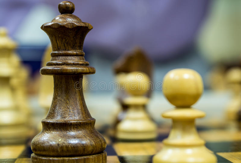 Chess is a game of power stock photography