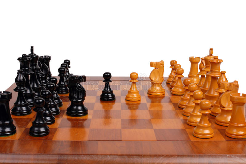 Download Chess game in progress stock image. Image of battle, knight - 18501929