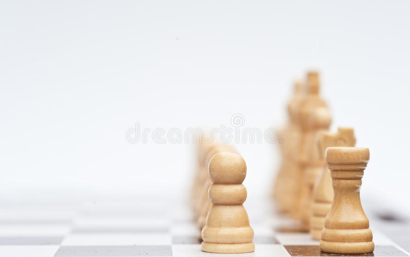 Chess game of strategy business concept stock photos