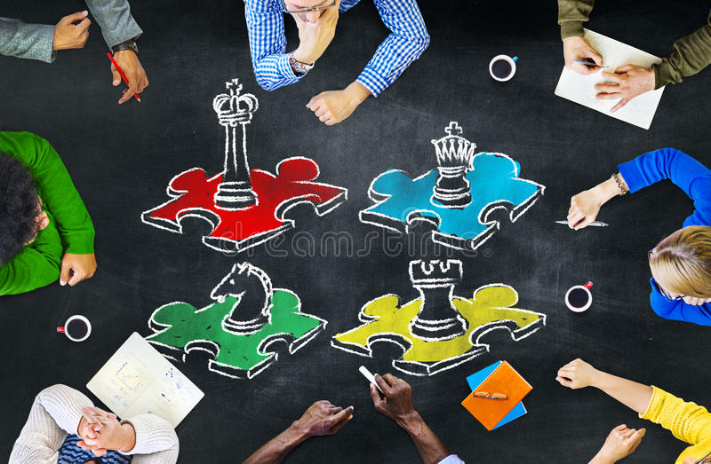 Chess Game Strategy Leisure Entertainment Recreation Concept. Chess Game Strategy Leisure Entertainment Recreation Tactics Concept royalty free stock image