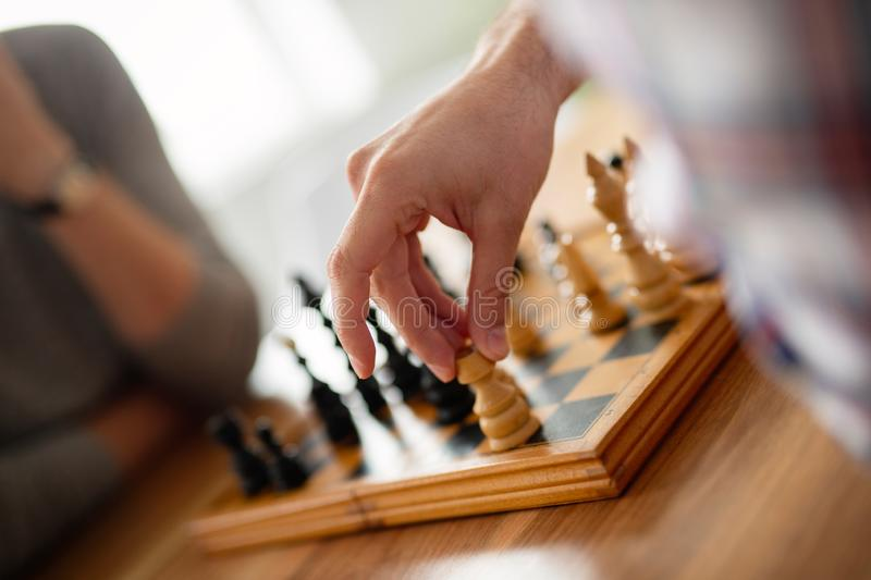 Chess game, strategy plan for winning success concept. Chess game, strategy plan for winning concept stock photos