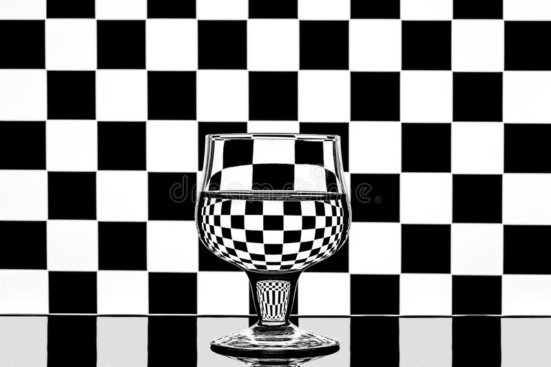 Chess in a glass royalty free stock images