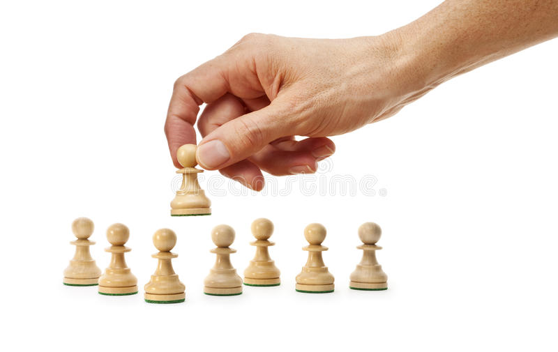 Chess Hand Strategy Business Stock Image Image Of