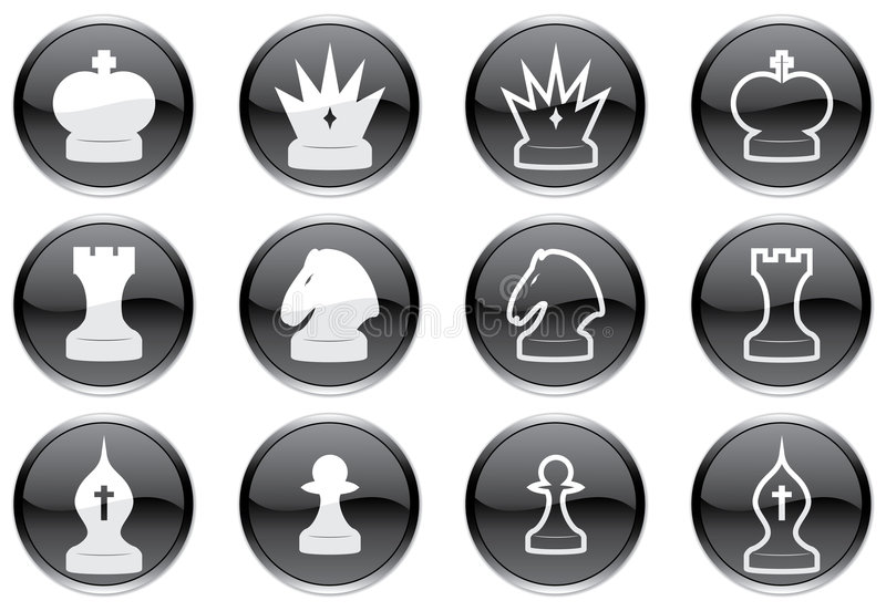 Download Chess Icons Set. Stock Photos - Image: 6804033