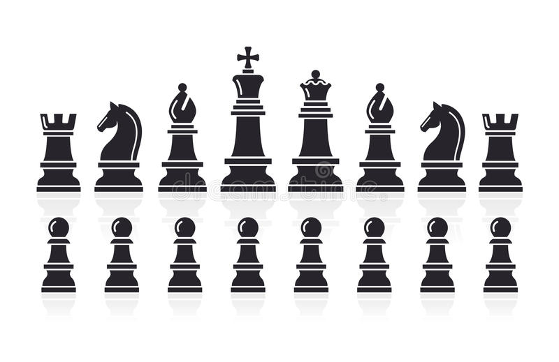 Chess Icons. Vector Illustration. Stock Vector - Image ...