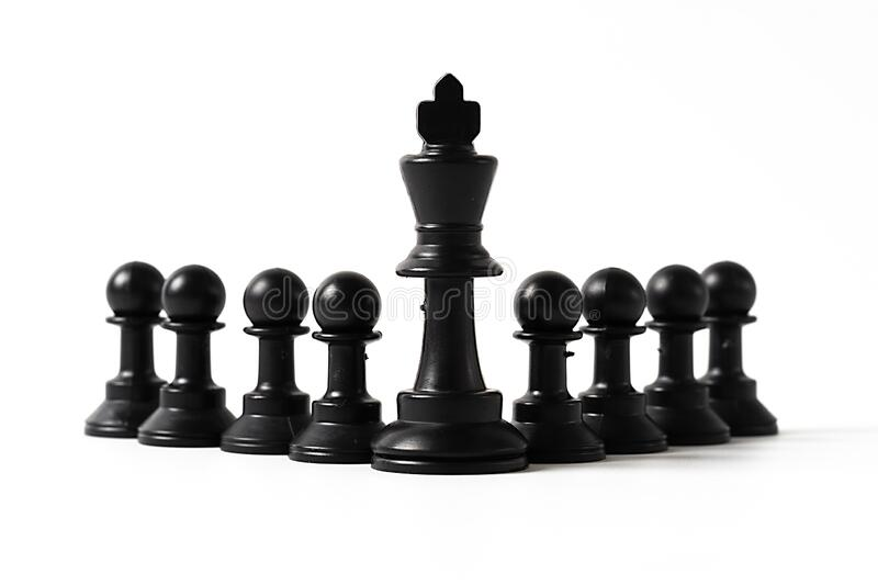 chess isolated on white stock image