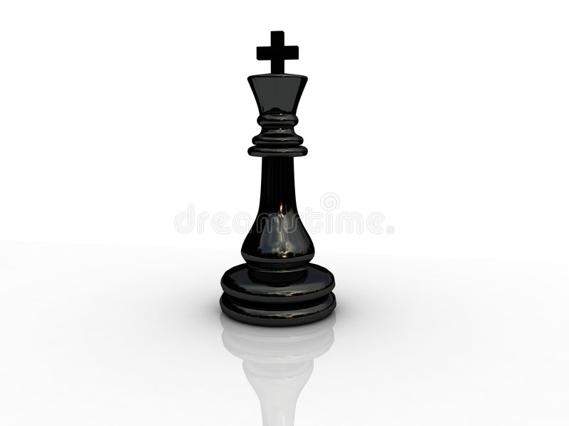 Chess king. Background picture of chess board stock illustration