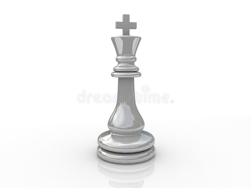 Chess king. Background picture of chess board vector illustration