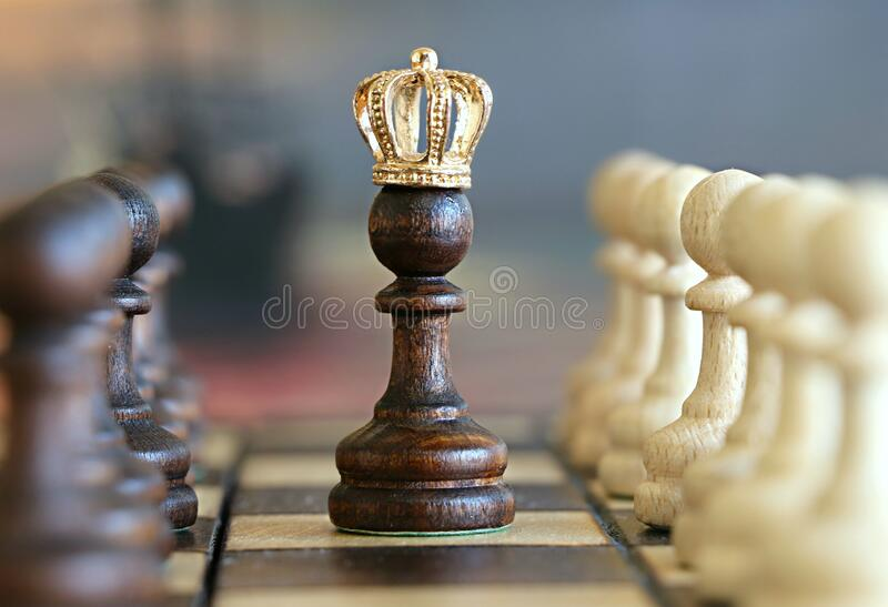 Download Chess king stock image. Image of strategic, board, crown - 84939337