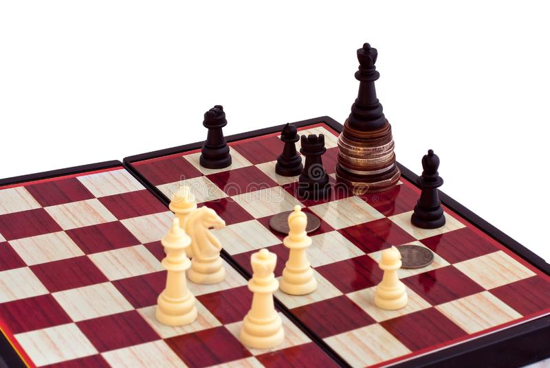 Download Chess And The King On Coins Stock Image - Image of chess, queen: 8208441