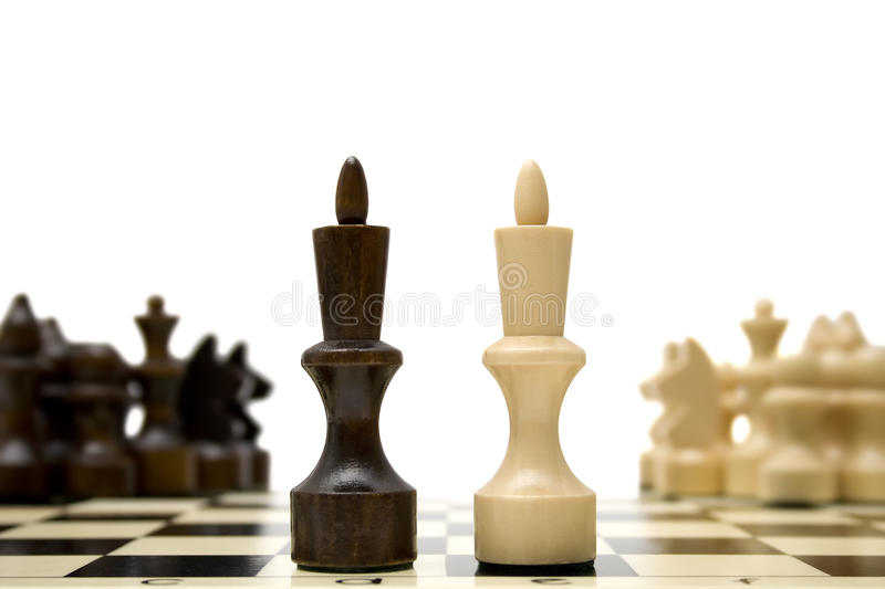 Chess king - confrontation concept royalty free stock photography