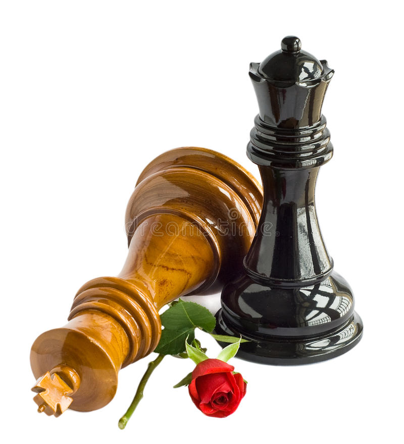 Chess king and flower stock images
