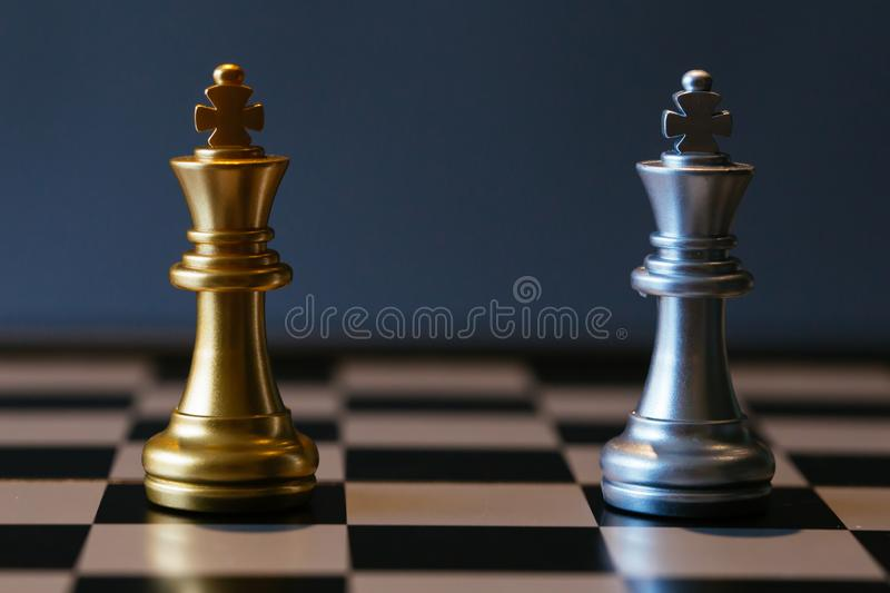 Chess kings against each other stock images