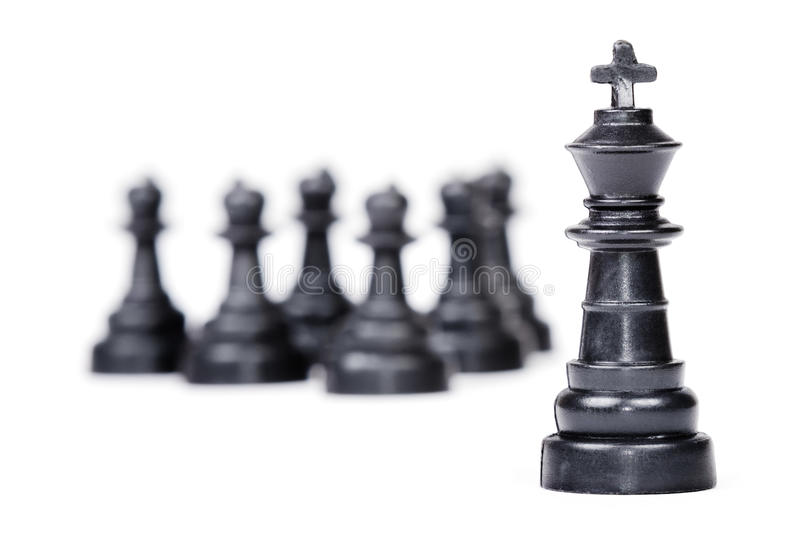 Chess leadership concept royalty free stock photography
