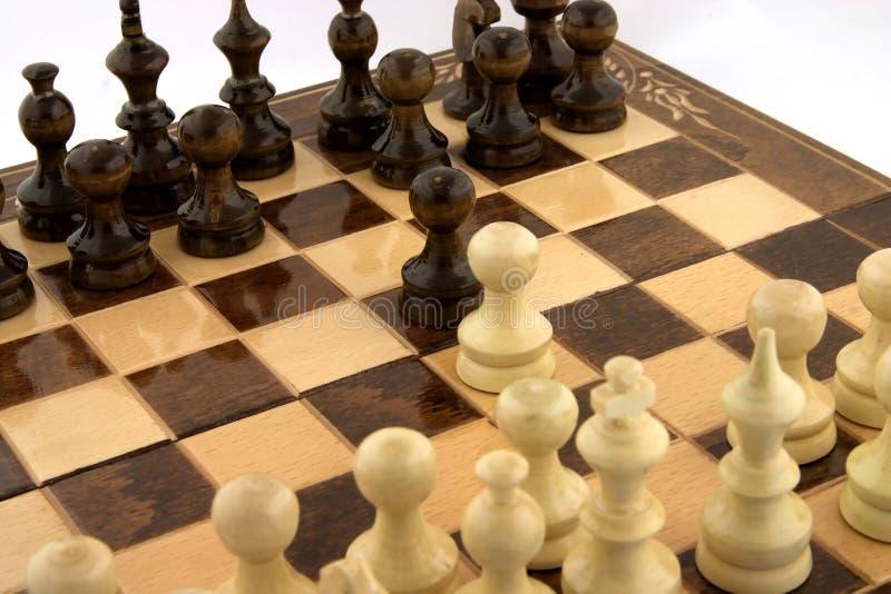 Chess meeting stock image
