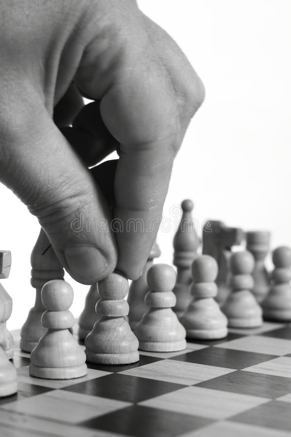 Chess Move C Royalty Free Stock Photography