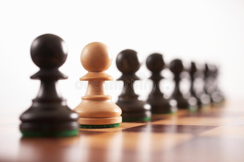 Chess the odd one out royalty free stock photography