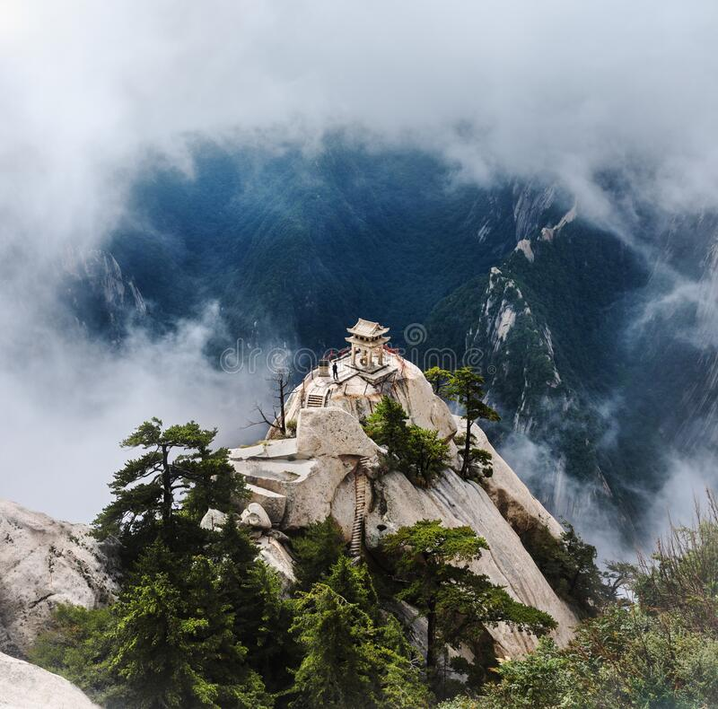Chess Pavilion Huashan Montanhas China foto de stock royalty free