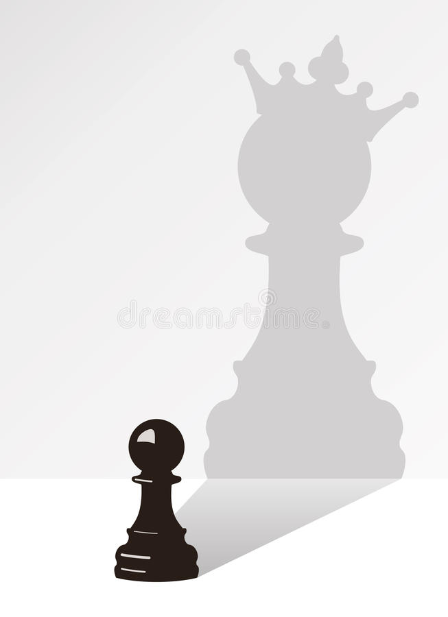 vector chess pawn with the shadow royalty free illustration