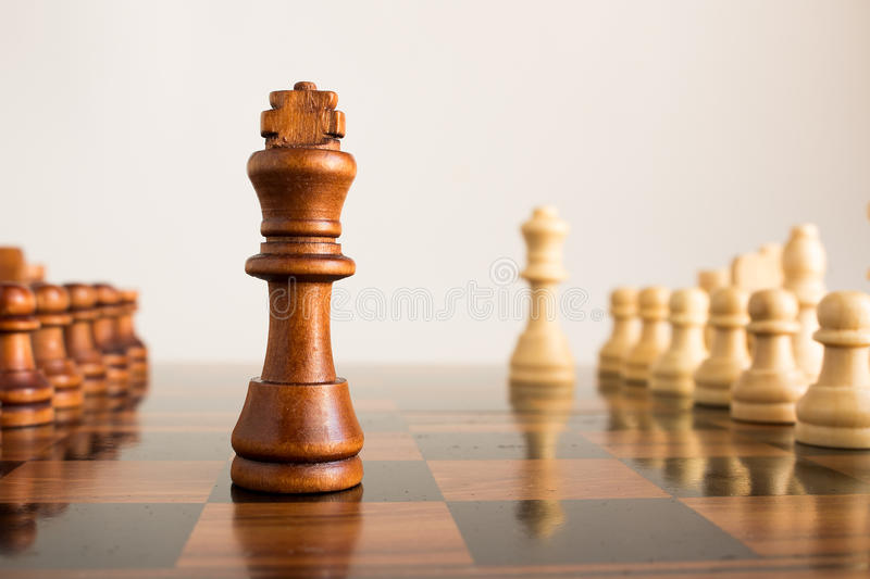 Chess. Photographed on a board stock photos