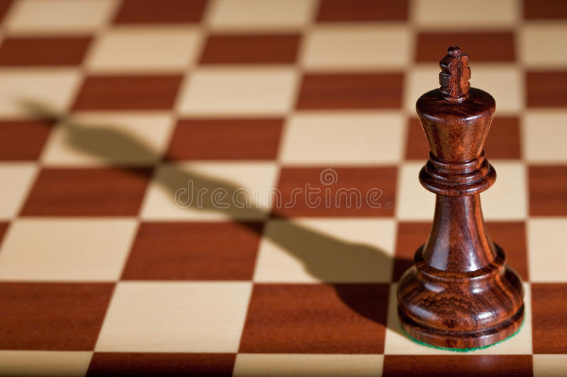 Download Chess Piece - A Black King On A Chessboard. Stock Image - Image: 12445139