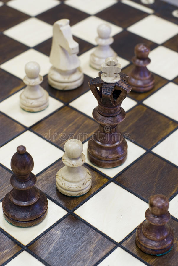 Download Chess Piece Figure Standing On Chess Board Royalty Free Stock Images - Image: 12710799