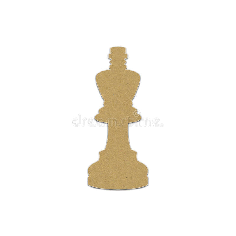 Chess piece, paper design. For web royalty free stock photo