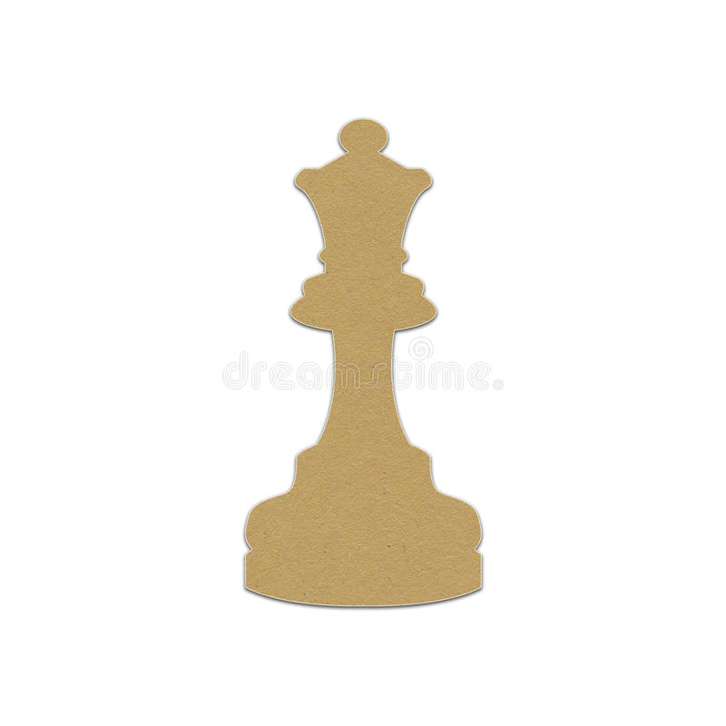 Chess piece, paper design. For web royalty free stock photography