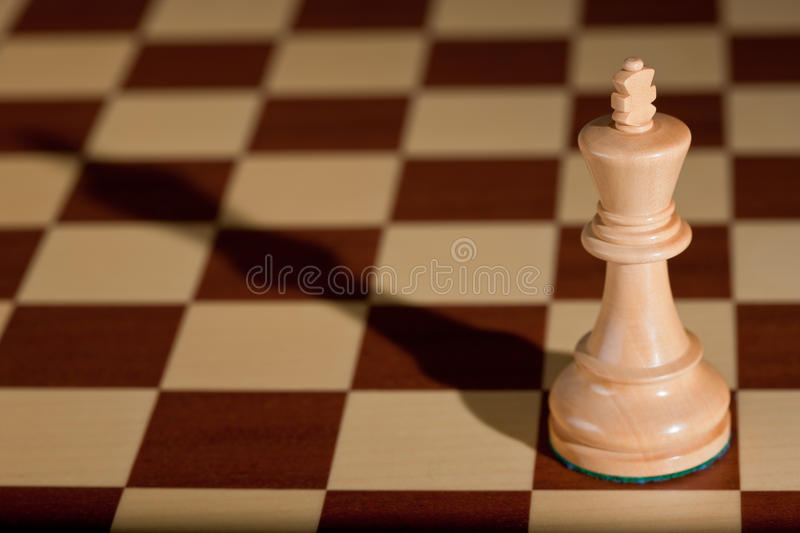Download Chess Piece - A White King On A Chessboard. Stock Image - Image: 12445135