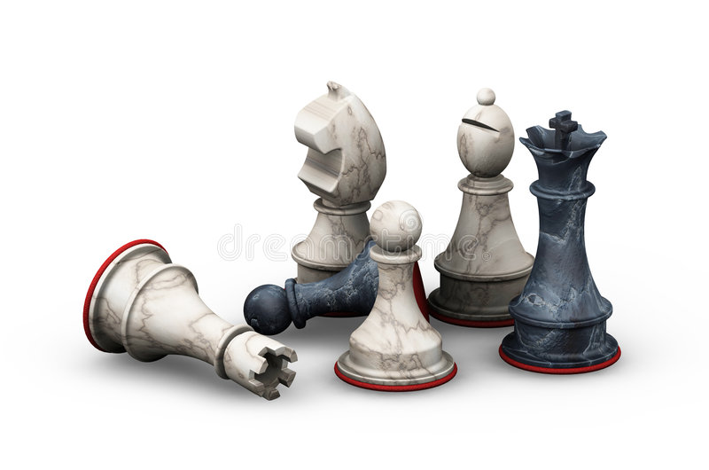 Chess pieces royalty free illustration