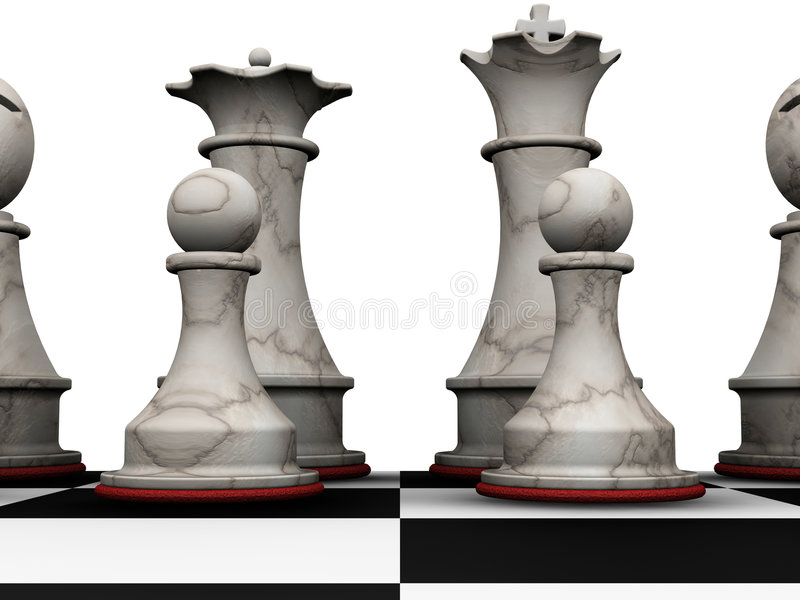 Chess pieces stock illustration