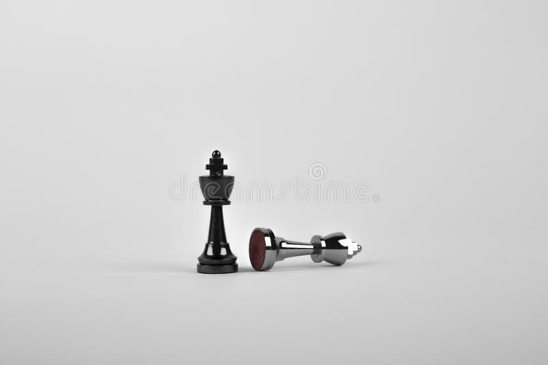 Chess pieces in black and white royalty free stock images
