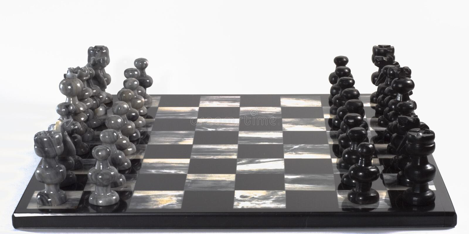 Download Chess Pieces and Board stock image. Image of black, conceptual - 504155