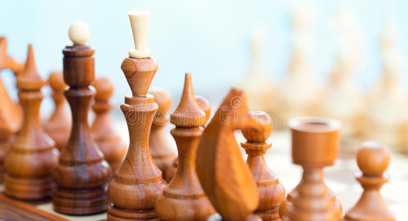 Download Chess pieces on the board stock image. Image of competition - 36686235
