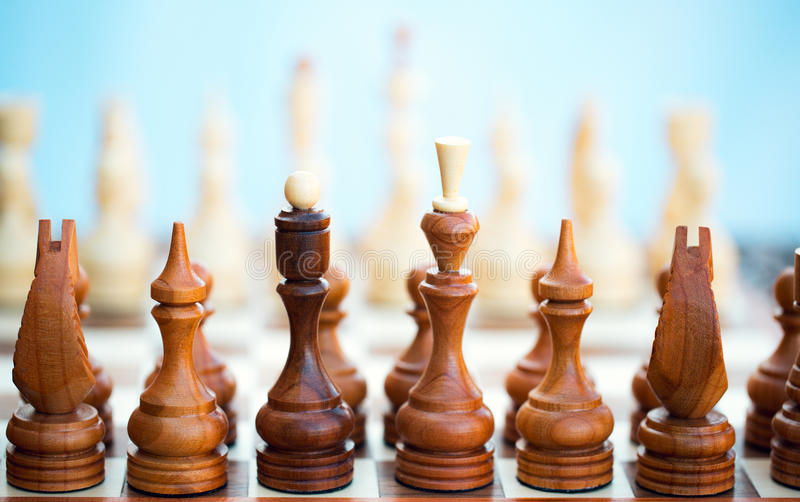 Chess Pieces On A Board Royalty Free Stock Photography