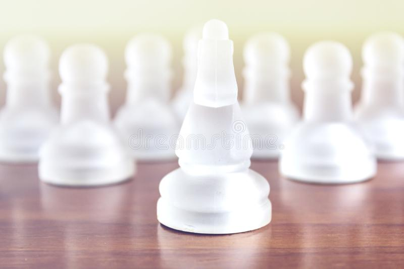 Chess pieces. Business strategy and teamwork concept.  stock image
