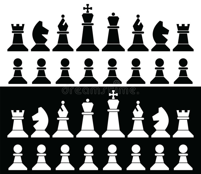 Chess pieces icons, vector stock vector. Illustration of ...