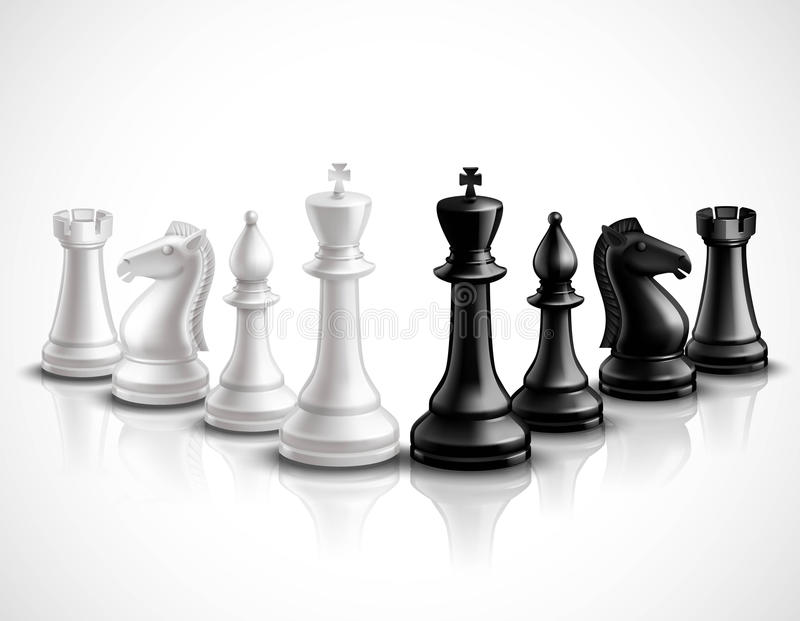 Chess Pieces Illustration vector illustration