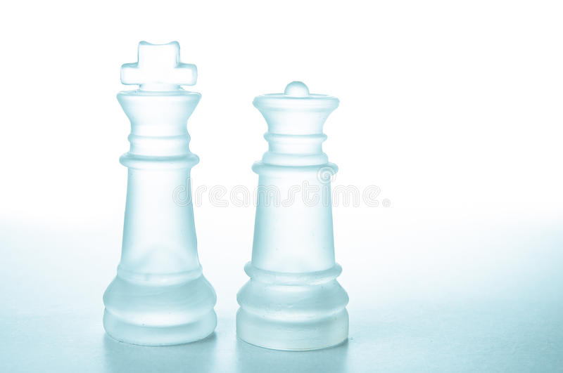 Chess pieces King and Queen royalty free stock photography