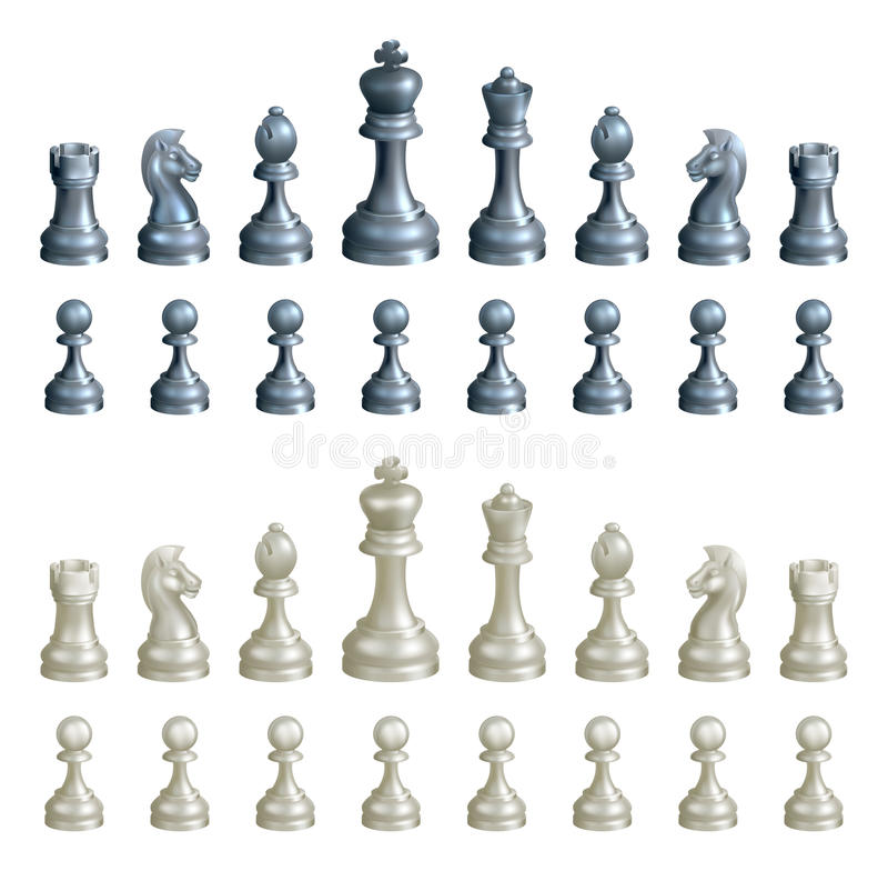 Chess pieces set vector illustration
