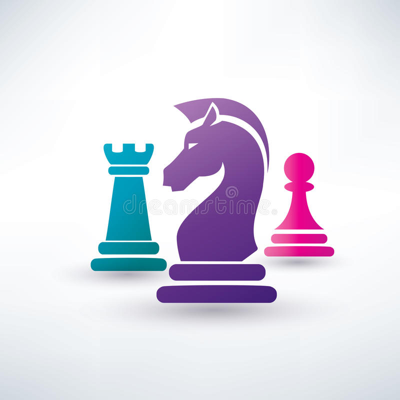 Chess pieces symbols royalty free illustration